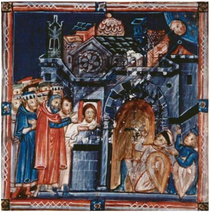 Iluminura mostrando exibição da Imagem de Edessa