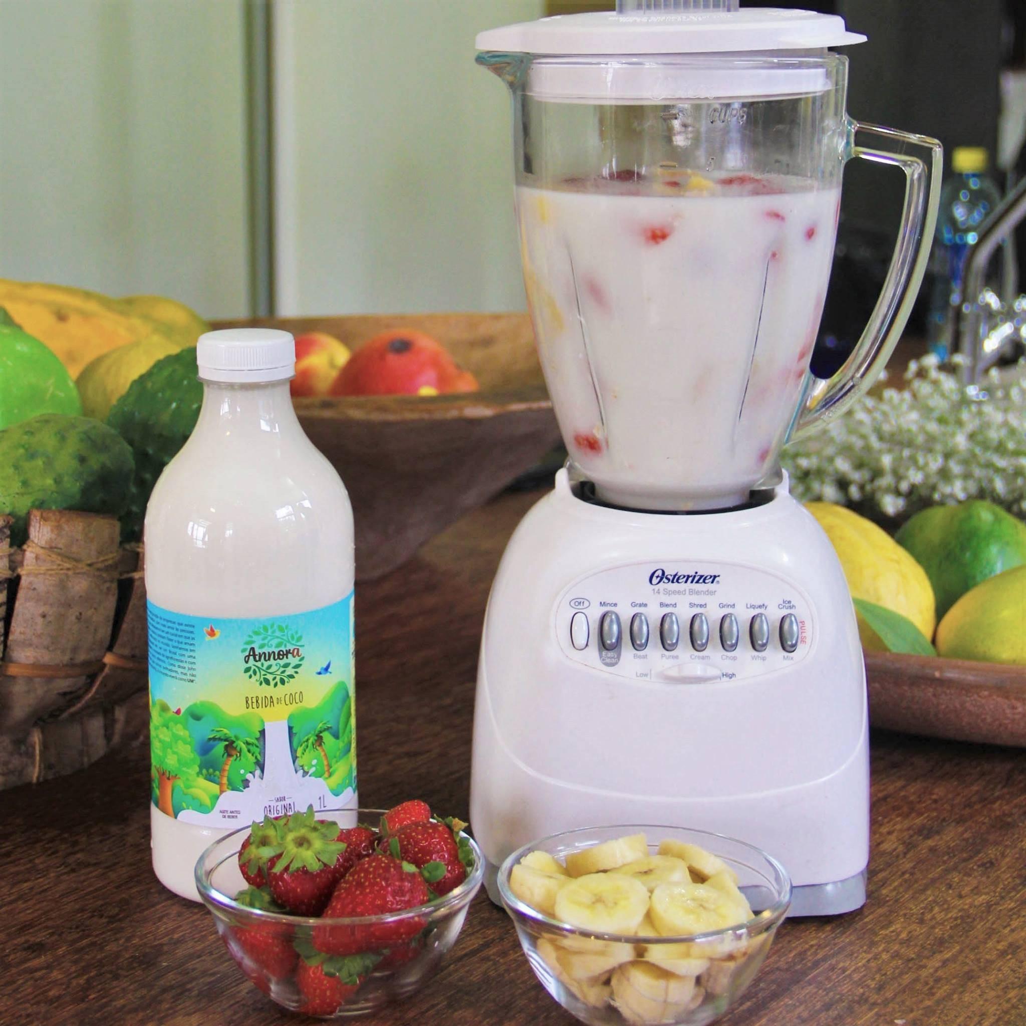 Leite de coco da Annora Alimentos: bebida pasteurizada sem conservantes. Foto: Divulgação