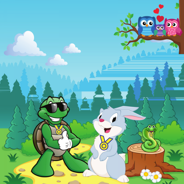 O coelho e a tartaruga