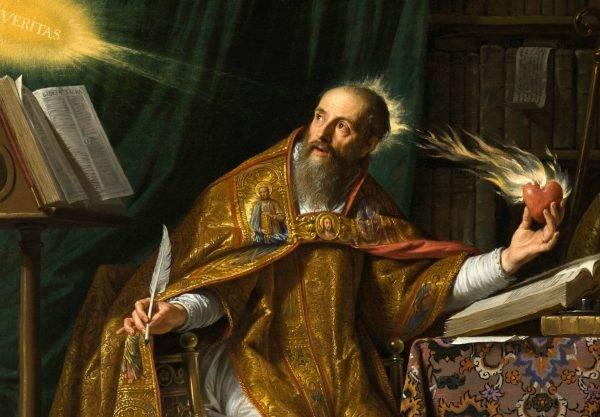 Santo Agostinho de Hipona foi um dos primeiros a defender interpretações não literais do relato da criação no Gênesis (Imagem: Reprodução)