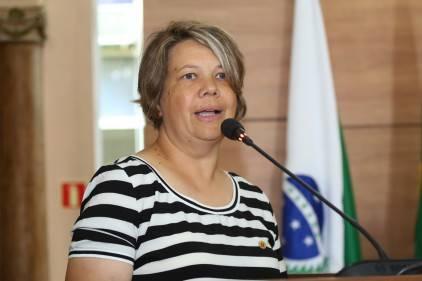 Vereadora conhecida como Katia dos Animais de Rua. Foto: Chico Camargo/CMC.