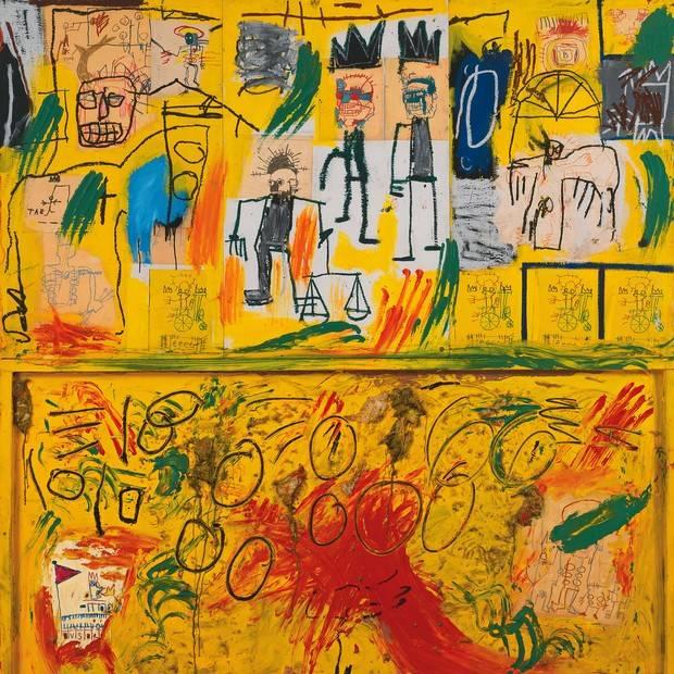 """A exposição """"Jean-Michel Basquiat: Obras da Coleção Mugrabi"""" fica em São Paulo até o dia 7 de abril. (crédito: divulgação).A exposição """"Jean-Michel Basquiat: Obras da Coleção Mugrabi"""" fica em São Paulo até o dia 7 de abril. (crédito: divulgação)."""