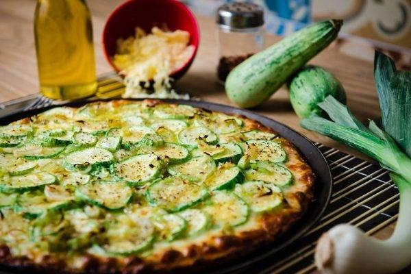 Pizza de abobrinha da Ballon Rouge. Foto: Divulgação