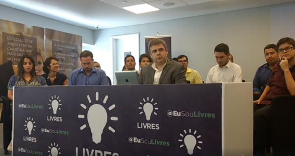 Pré-candidatos do movimento liberal Livres durante anúncio à imprensa em São Paulo (Foto: Livres/Divulgação)