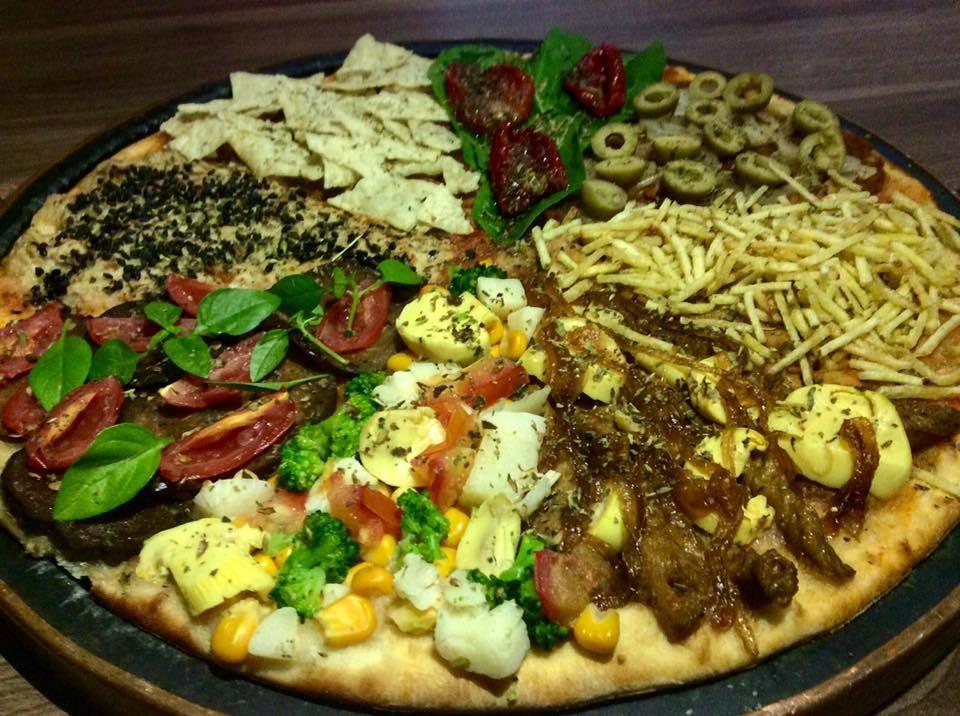 Na Opte Pizzaria, há uma parte do cardápio dedicada aos sabores veganos. Foto: Divulgação