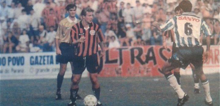 Piekarski e Carille durante atletiba dos anos 90.