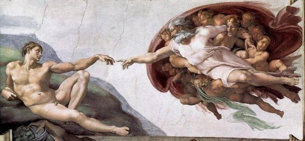 """Michelangelo, """"Criação de Adão"""" (Capela Sistina)"""