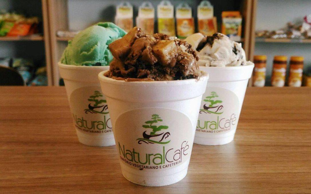 A cafeteria Natural Café, no Água Verde, começou a produzir os próprios sorvetes e fará degustação gratuita na sexta (4) e sábado (5). Foto: Divulgação