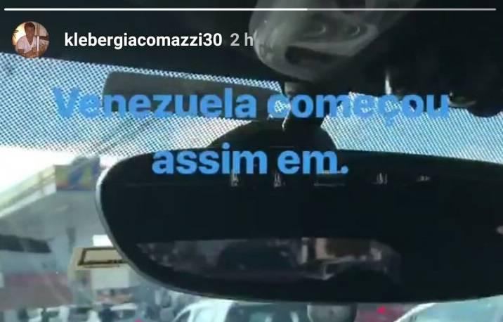 Filme de Kleber faz menção da crise do combustível do Brasil com o início da derrocada na Venezuela.