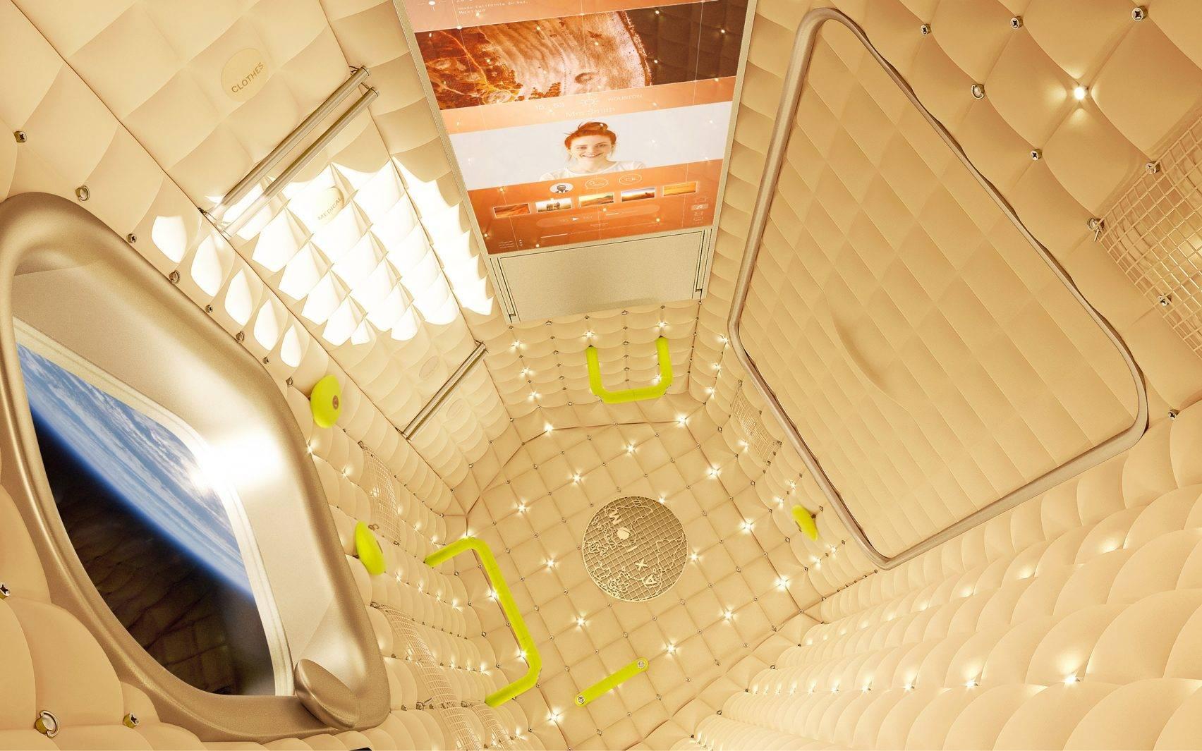 A Axiom Station tem seus interiores projetados por Phillipe Starck. (crédito: divulgação).