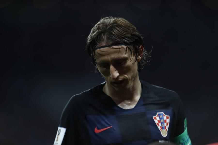 Modric, de 32 anos, é o jogador que mais correu na Copa do Mundo 2018. (Foto: AFP).