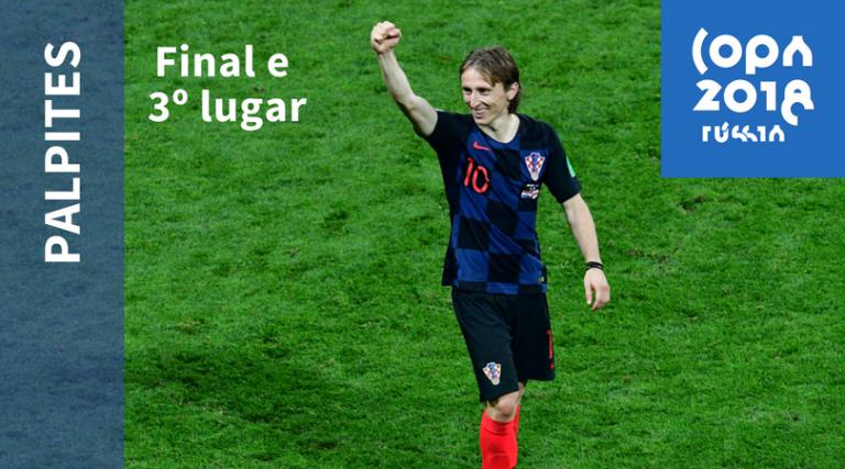 Modric vai liderar a Croácia na final da Copa do Mundo 2018 diante da França. (Foto: Mladen Antonov/AFP)
