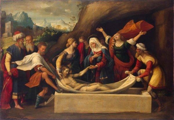 """""""Sepultamento de Cristo"""", de Garofalo: nova pesquisa descarta completamente circunstâncias da morte de Cristo para """"provar"""" que as manchas do Sudário são irreais."""
