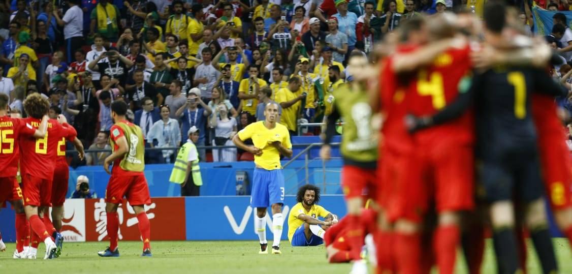 Foi justo! Bélgica se aproveitou de um início patético do Brasil