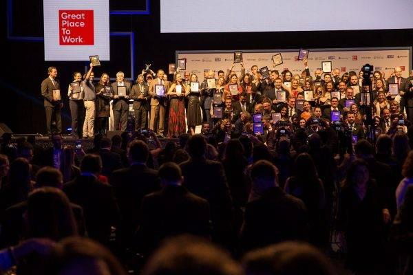 Great Place To Work premiou as 150 Melhores Empresas para Trabalhar no Brasil na última segunda-feira (13), em São Paulo.  FOTO: Alexandre DiPaula e Hernandes