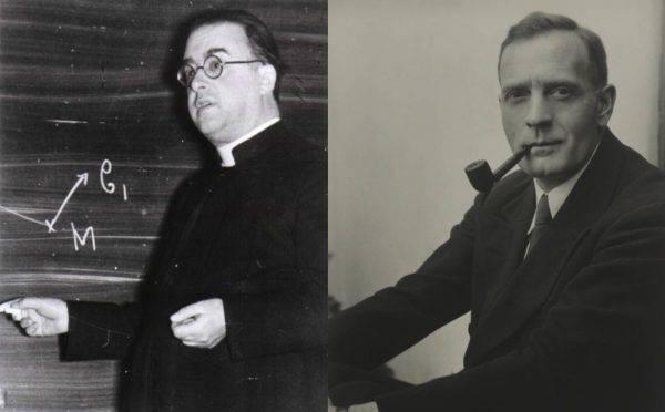 Georges Lemaître e Edwin Hubble: colaboração na ânsia de compreender os mistérios do universo. (Fotos: Arquivo Georges Lemaître / Jonah Hagemeyer)