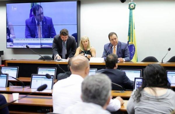 Reunião do Conselho de Ética da Câmara dos Deputados, presidida por Elmar Nascimento (DEM-BA), em 16 de outubro de 2018. Foto: Najara Araujo/Câmara dos Deputados