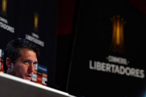 Guillermo Barros Schelotto, técnico do Boca Juniors GABRIEL BOUYS / AFP