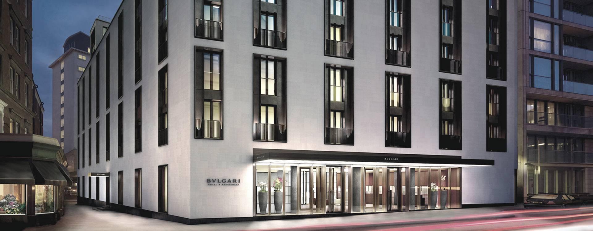O Hotel Bulgari, comandado pela LVMH em Londres. (crédito: divulgação).
