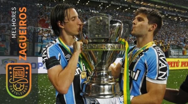 Kannemann e Geromel, do Grêmio, foram os melhores zagueiros do Cartola FC 2018. Foto: Lucas Uebel/Grêmio.