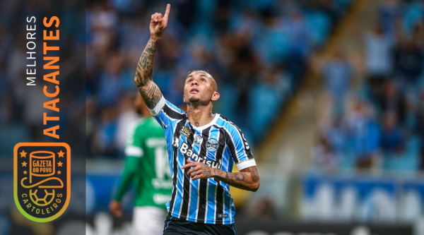 Everton, do Grêmio, foi o melhor atacante do Cartola FC 2018. Foto: Lucas Uebel/Grêmio.