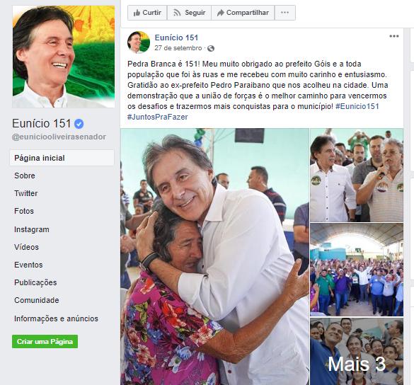 O presidente do Senado Eunício de Oliveira usou bastante os jatinhos da FAB durante o período eleitoral.