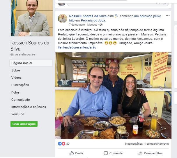 Postagem do ministro da Educação Rossieli Soares sobre viagem ao Amazonas