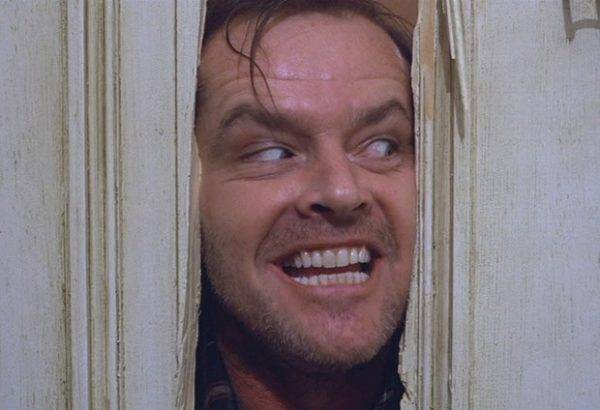 "Jack Nicholson no filme ""O Iluminado"", de Stanley Kubrick, baseado na obra de  Stephen King."