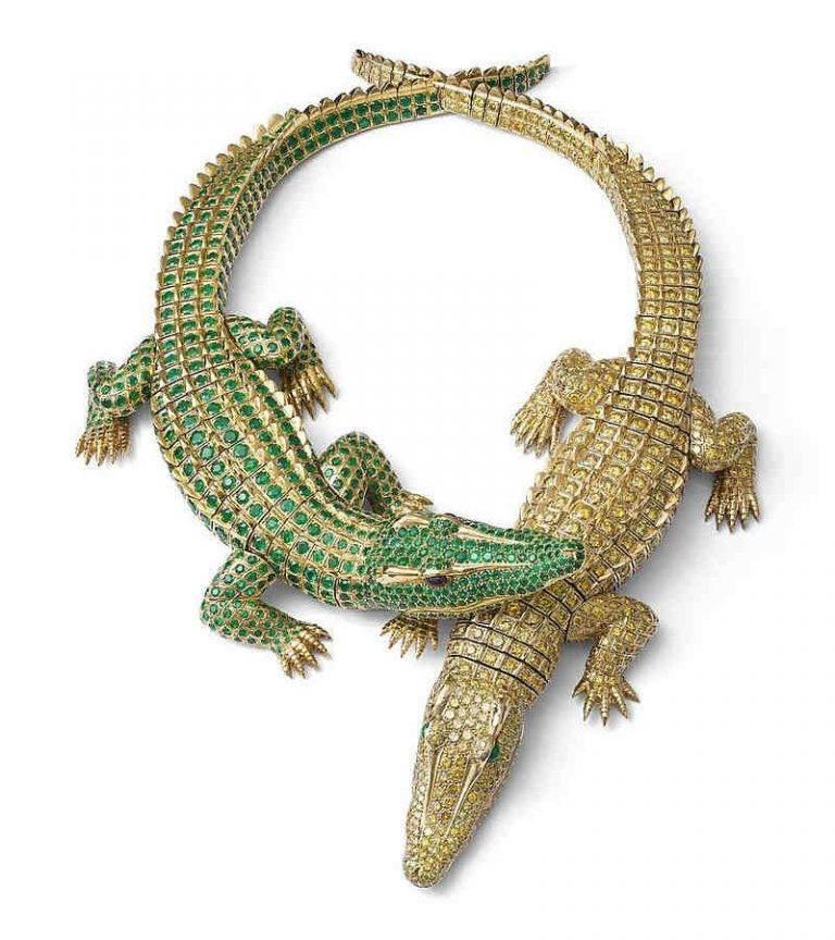 O colar feito para a atriz Maria Feliz podia ser desmontado e usado como broche. (crédito: divulgação).