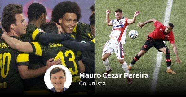 Montagem com jogos desse final de semana de Borussia e Athletico. Fotos: Robert Michael/AFP e André Rodrigues/Gazeta do Povo
