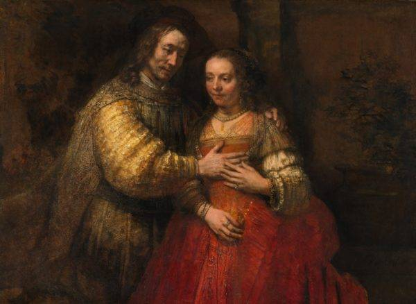 A noiva judia, de Rembrandt (1666). Foto: Reprodução.