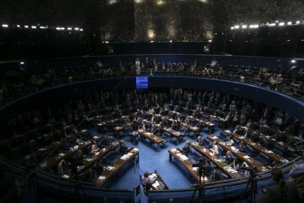 Vista geral do Senado. Foto: Sergio Lima/AFP
