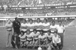 Foto posada do esquadrão alviverde num Atletiba de 1974.