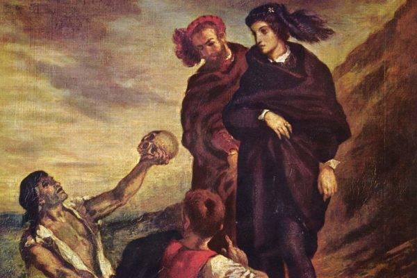 Eugène Delacroix, Hamlet e Horácio no Cemitério. Reprodução