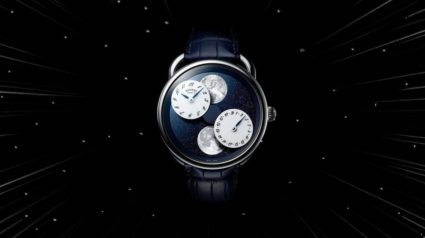 O mecanismo é calibrado pela Hermès e possui mais de 100 componentes. (crédito: divulgação).