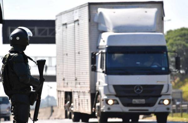 Greve dos caminhoneiros parou o país em maio de 2018. Foto: AFP/ Nelson ALMEIDA