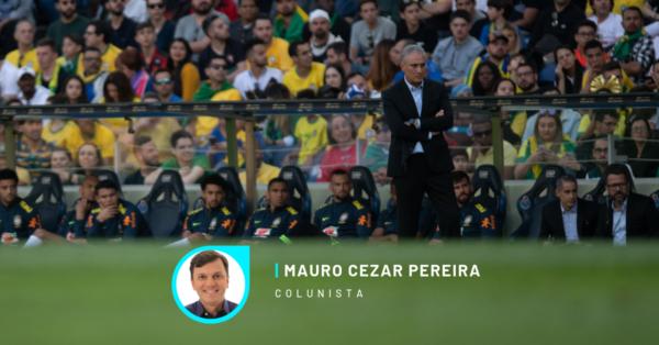 Tite, técnico da seleção brasileira, durante vexame contra o Panamá. Foto Pedro Martins / MoWA Press