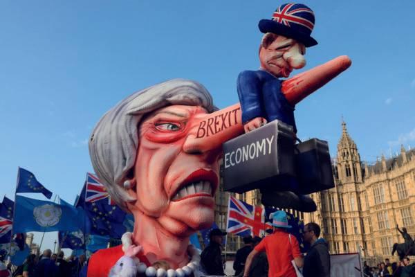 Protesto contra o Brexit, em Londres. Foto: Isabel Infantes/AFP