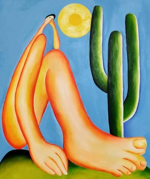 """A obra """"Abaporu"""", a mais famosa da artista brasileira, está em exposição no MASP também. (crédito: divulgação)."""