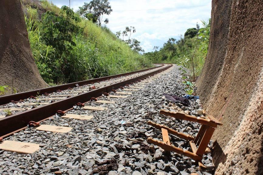 Trecho da Ferrovia Norte-Sul em Anápolis (GO). Foto: Lúcio Vaz