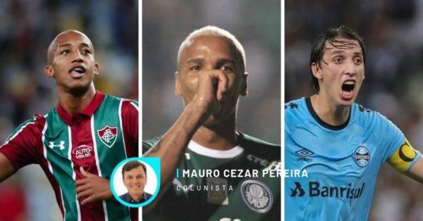 João Pedro, do Fluminense, Deyverson, do Palmeiras, e Geromel, do Grêmio.