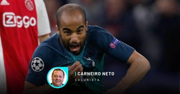 Lucas Moura foi o herói da classificação do time inglês. Foto by Adrian DENNIS / AFP