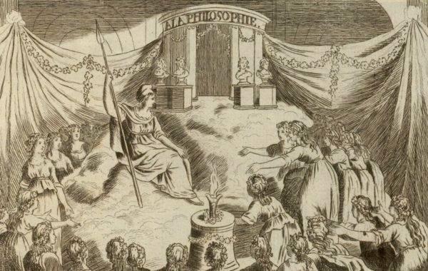 Gravura em homenagem à instituição da Festa da Razão, durante a Revolução Francesa. Foto: Wikimedia Commons