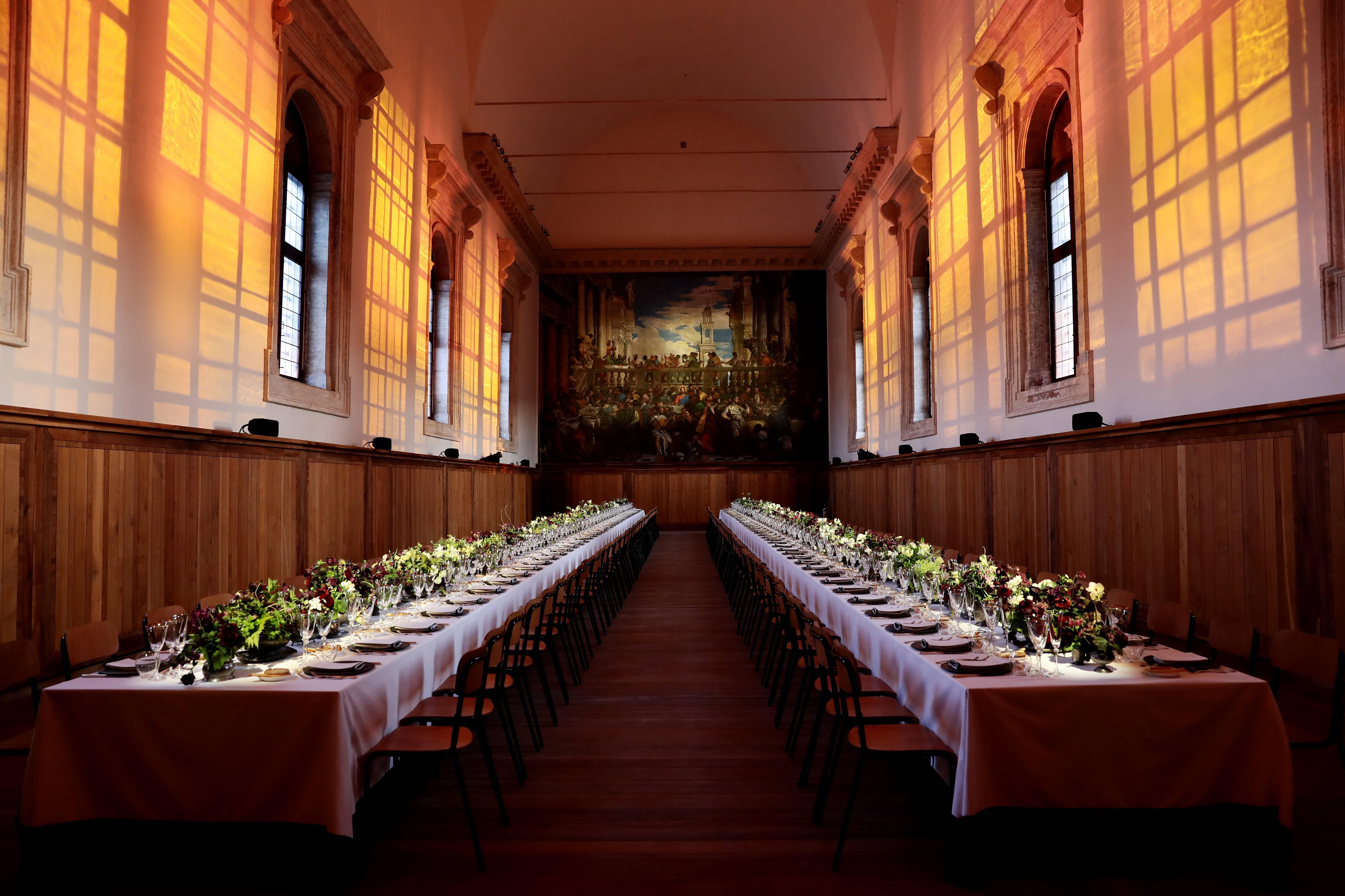 O jantar aconteceu no 'Cenacolo Palladiano'. (crédito: divulgação).