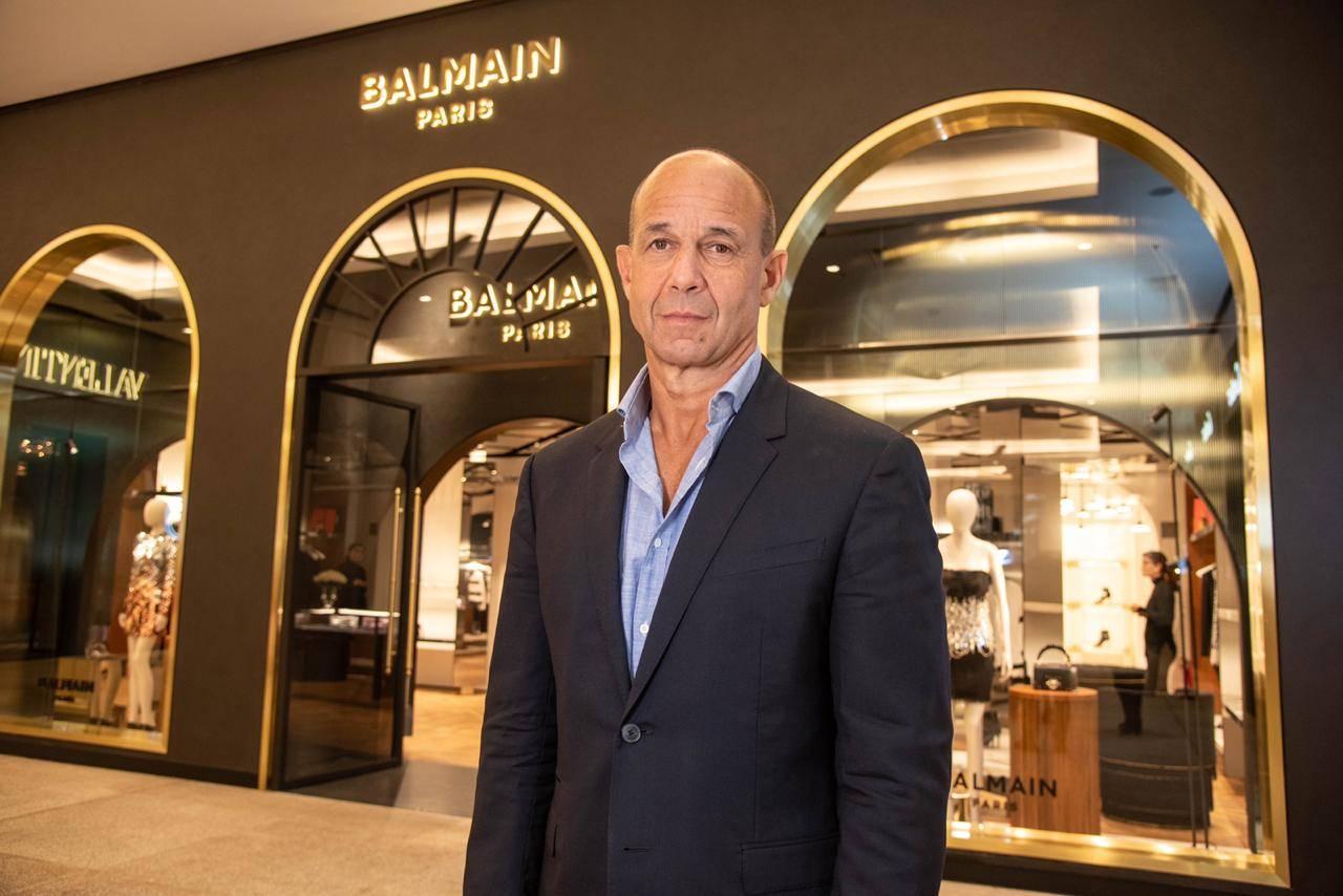 O CEO da Balmain, Massimo Biombini. (crédito: Lú Prezia).