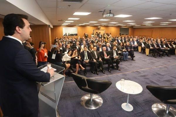 Governador Ratinho Junior (PSD) no Paraná Day, em Brasília (Foto: Rodrigo Felix Leal/ANPr)